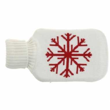 Warme kerst witte kruik met sneeuwvlok