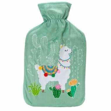 Warme kruik alpaca/lama groen 2 liter