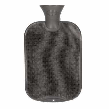Warme kruik antraciet grijs 2 liter