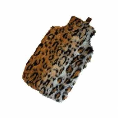 Warme luxe kado kruik cheetah nep bont
