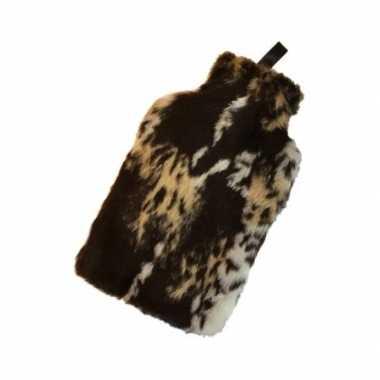 Warme luxe kado kruik hyena nep bont