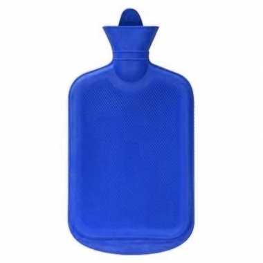 Warmwarme kruik blauw 2 liter