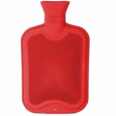 Warmwarme kruik rood 2 liter