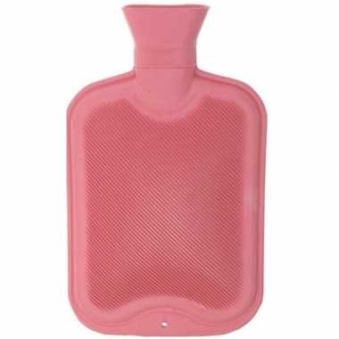 Warmwarme kruik roze 2 liter