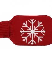 Warme rode kruik met sneeuwvlok